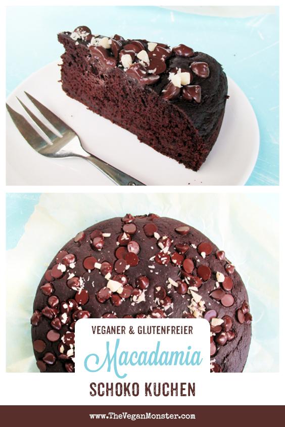 Veganer Glutenfreier Macadamia Schokoladen Kuchen Ohne Milch Ohne Ei Ohne Kristallzucker Rezept 1