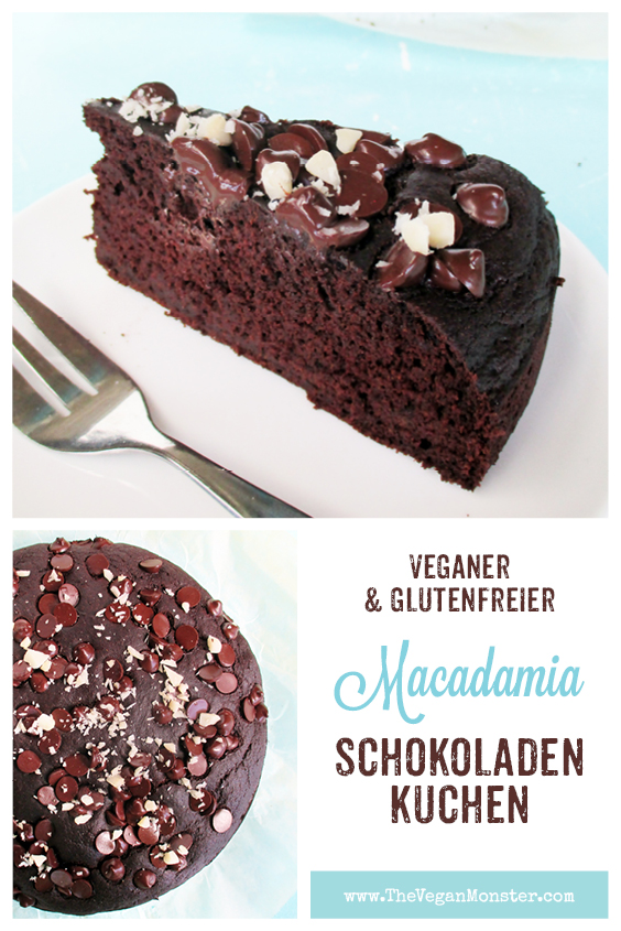 Veganer Glutenfreier Macadamia Schokoladen Kuchen Ohne Milch Ohne Ei Ohne Kristallzucker Rezept 2