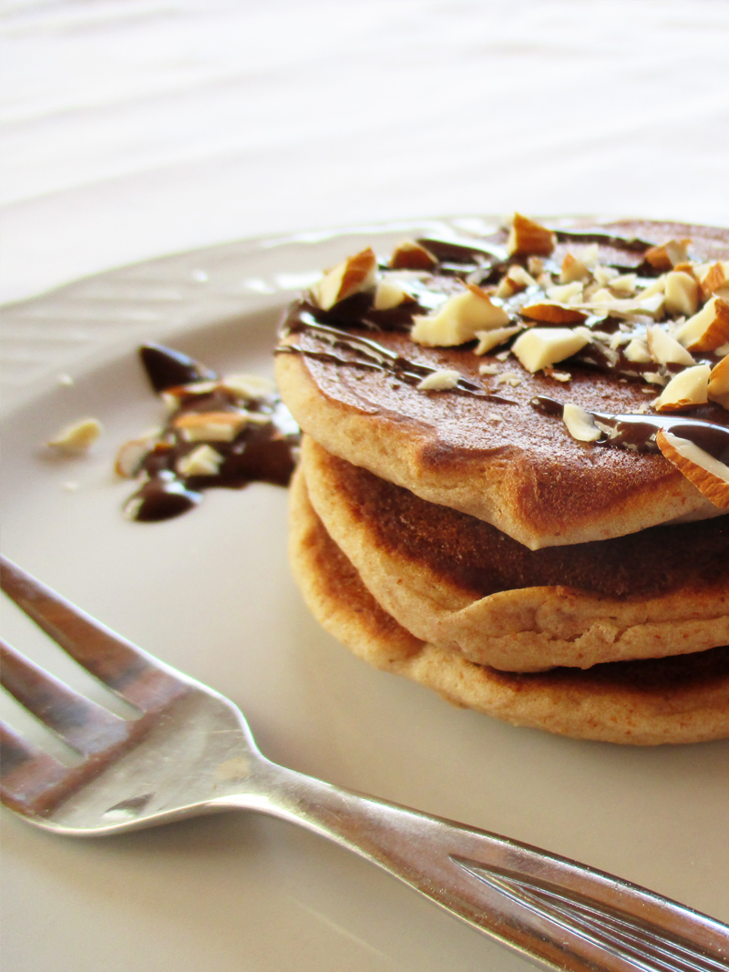 Vegane Glutenfreie Mini Mandel Pfannkuchen Rezept 05