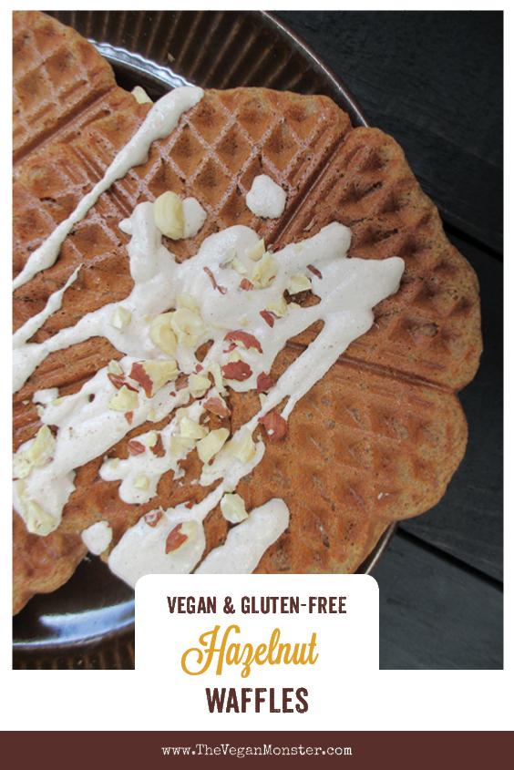 Vegan Gluten free Hazelnut Waffles Recipe P