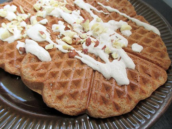 Vegan Gluten free Hazelnut Waffles Recipe