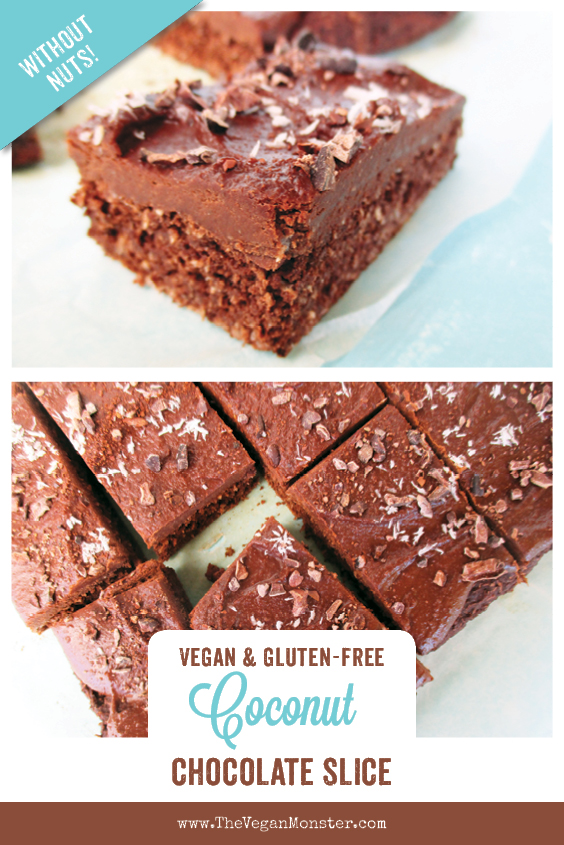 Vegan Glutenfree Coconut Chocolate Cake Slice Recipe Without Refined Sugar No Added Oil P 1