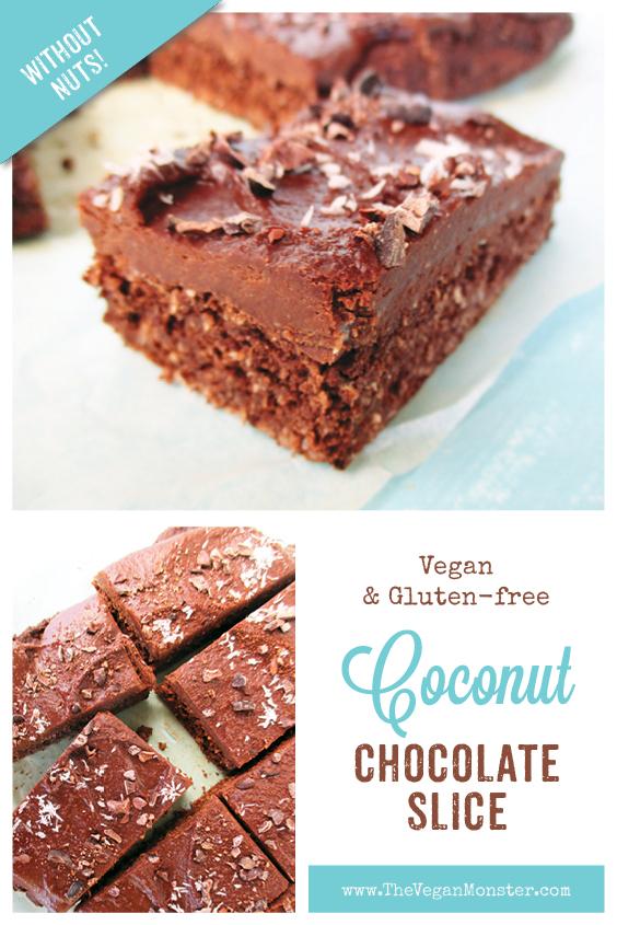 Vegan Glutenfree Coconut Chocolate Cake Slice Recipe Without Refined Sugar No Added Oil P 2