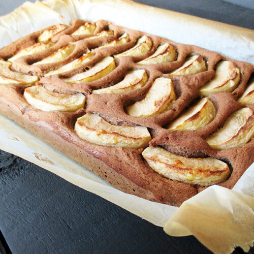Veganer Glutenfreier Nuss Milch Mehl Apfel Zimt Kuchen Rezept 2 1 1