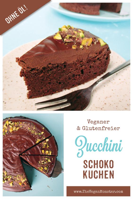 Veganer Glutenfreier Zucchini Schokoladen Kuchen Rezept Ohne Oel 2