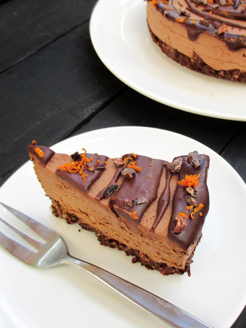 Vegan Gluten free Refined Sugar Free No Bake Hazelnut Orange Chocolate Cake Recipe 11 1