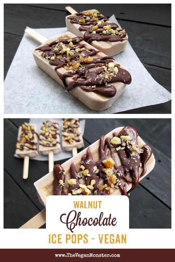 Vegan Gluten-free Refined Sugar Free Walnut Chocolate Ice Pops Recipe
