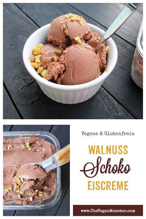 Vegane Glutenfreie Walnuss Schokoladen Eiscreme Ohne Kristallzucker Rezept