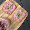 Veganer Glutenfreier Probiotischer Pinker Frischkaese Ohne Milch Rezept 4 1
