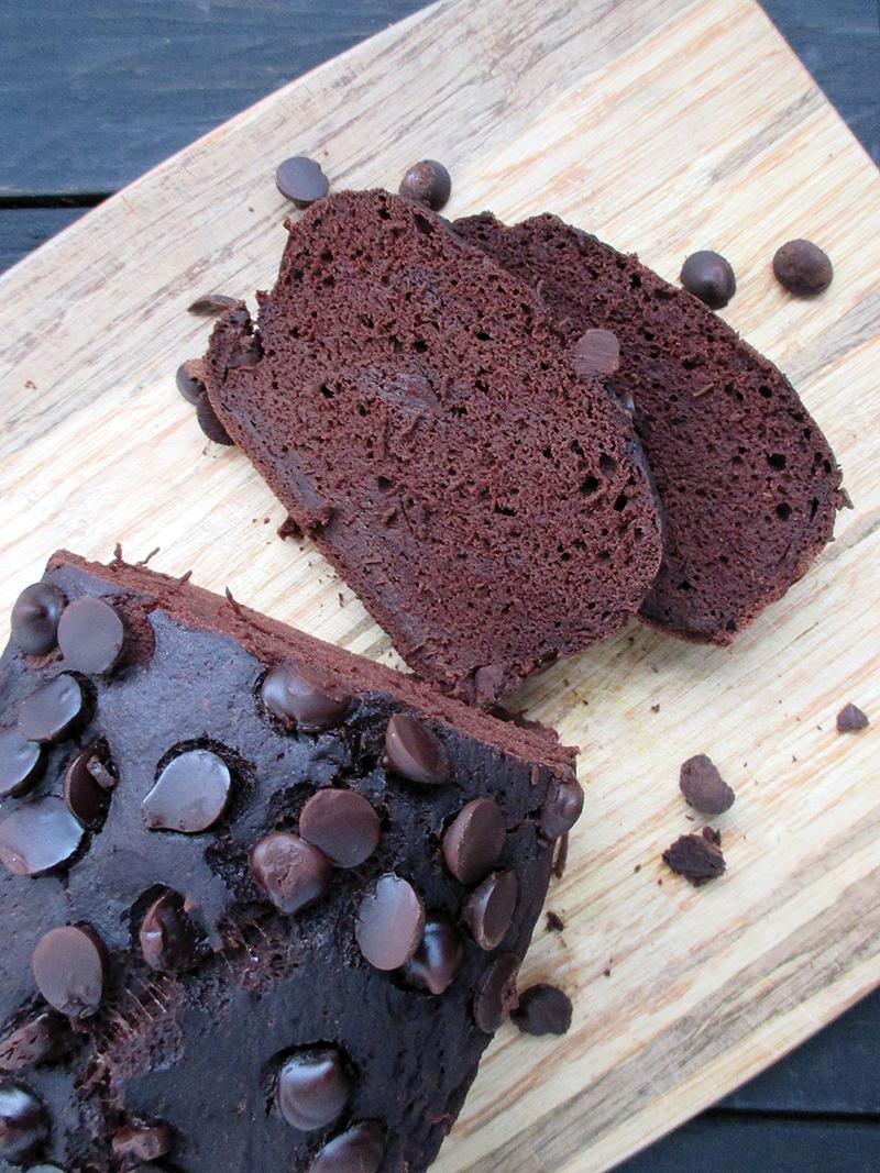 Vegan Gluten free Oil free Banana Chocolate Loaf Recipe 4