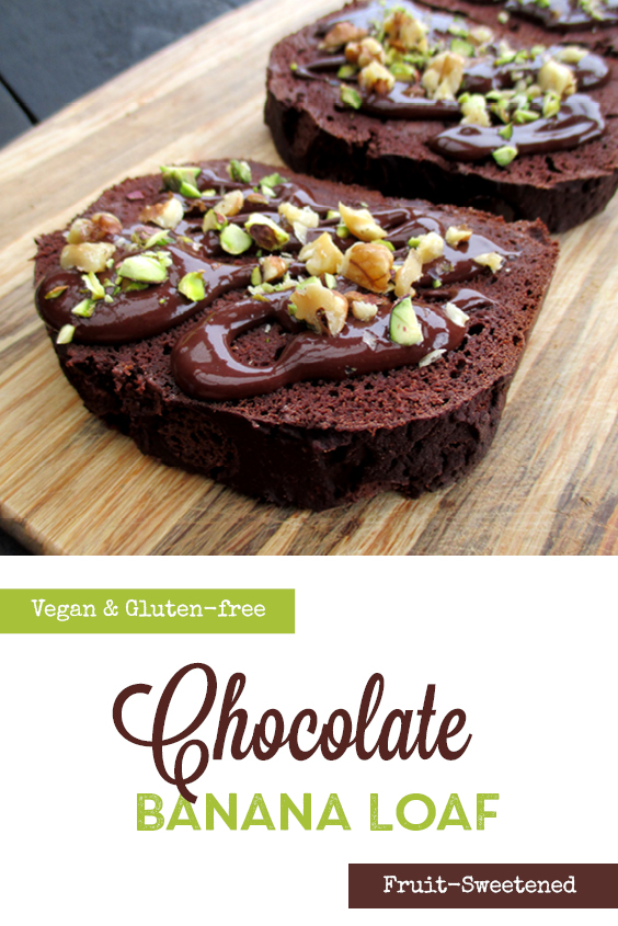 Vegan Gluten free Oil free Banana Chocolate Loaf Recipe P3