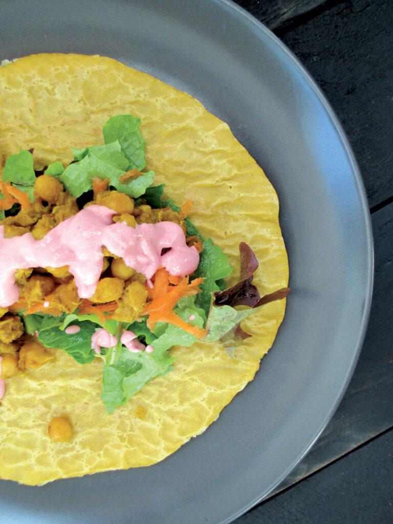 Vegan Gluten-free Oil-free Soy-free Pumpkin Wraps Recipe