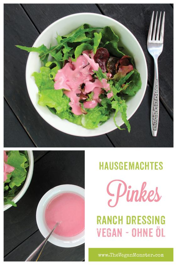 Veganes Glutenfreies Pinkes Ranch Salat Dressing Ohne Oel Rezept