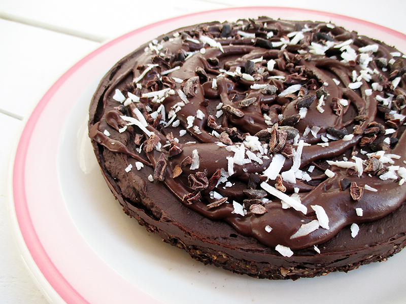 Vegan And Gluten-Free Avocado Chocolate Mousse Cake