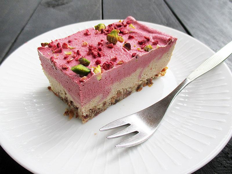 Vegan Gluten-freeNo Bake Raspberry Almond Slice Recipe