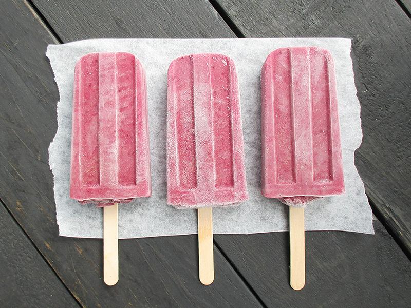 Vegan Gluten-free Plum Banana Ice Cream Popsicles Without Refined Sugar Recipe