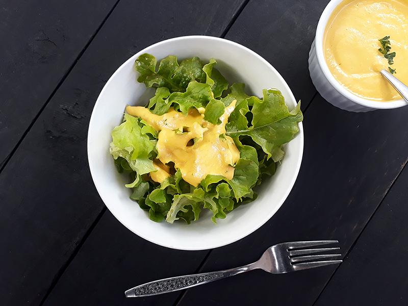 Vegan Gluten-free Raw Ginger Carrot Salad Dressing Without Oil Recipe