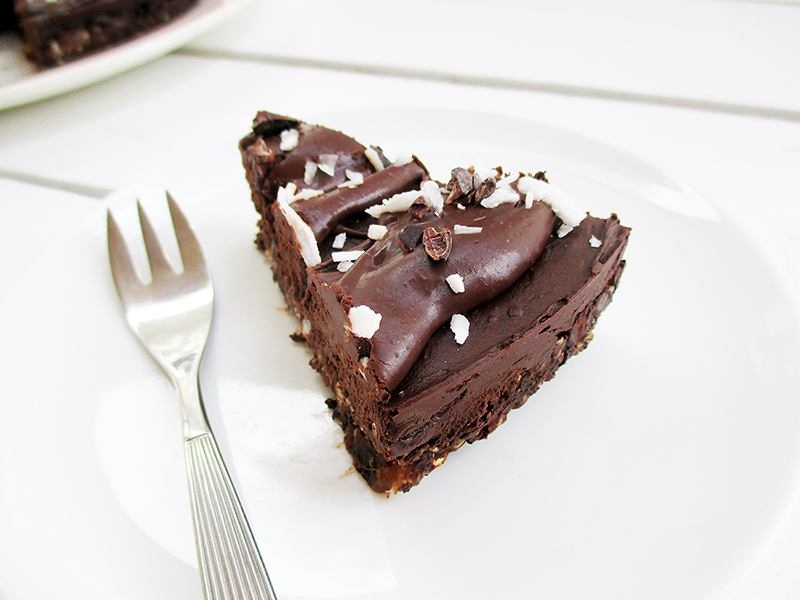 Veganer Avocado Schokoladen Mousse Kuchen glutenfrei