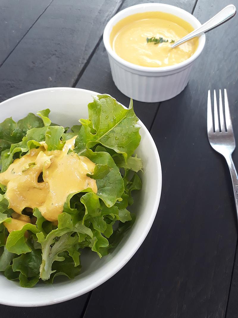 Ginger Carrot Salad Dressing (Vegan, Gluten-free, Oil-free)