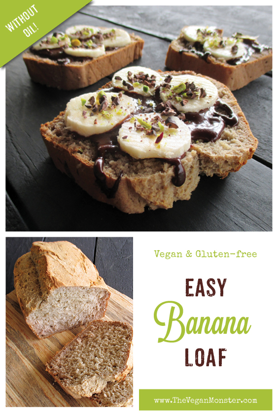 Easy Vegan Gluten free Banana Loaf Without Refined Sugar Oil free Recipe P2
