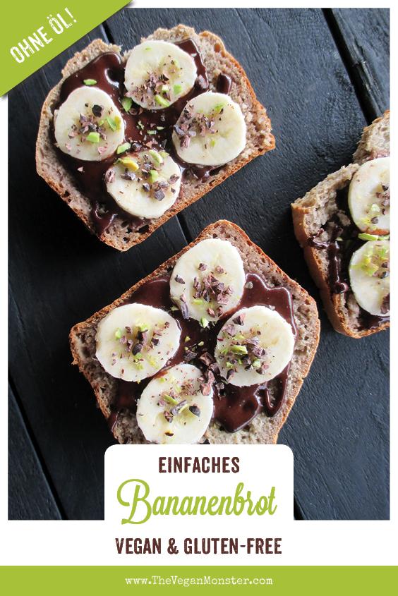 Einfaches Veganes Glutenfreies Bananebrot Ohne Zucker Ohne Oel Rezept 1 1