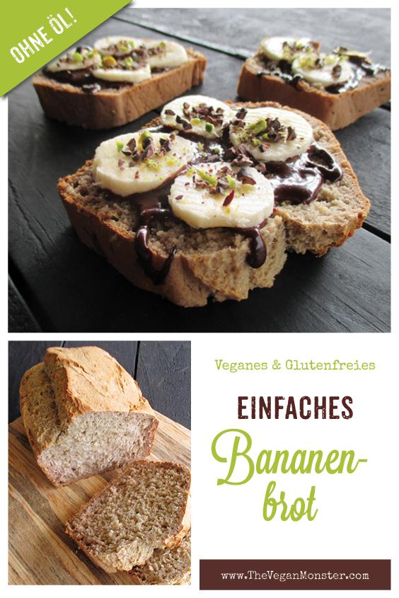 Einfaches Veganes Glutenfreies Bananebrot Ohne Zucker Ohne Oel Rezept 2 1