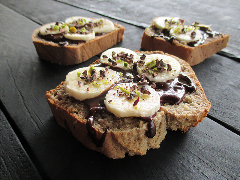 Einfaches Veganes Glutenfreies Bananebrot Ohne Zucker Ohne Oel Rezept 2