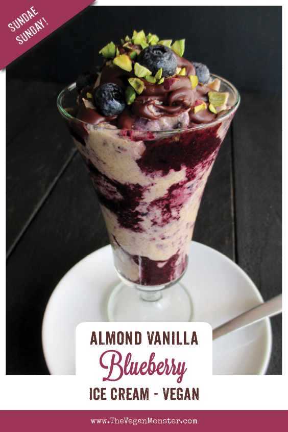 Sundae Sunday Vegan Gluten free Dairy free Almond Vanilla Ice Cream With Blueberry Sauce Recipe