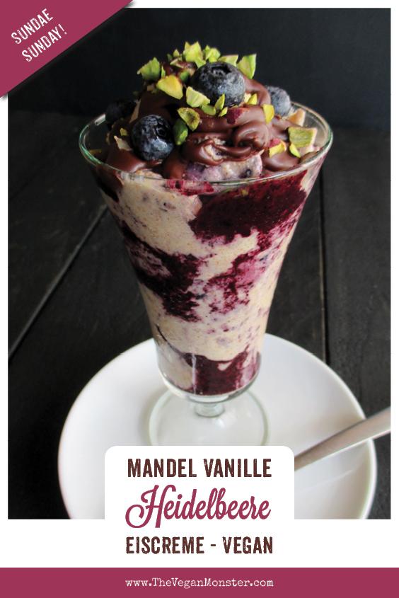 Sundae Sunday Vegan Glutenfreie Mandel Vanille Eiscreme Ohne Milch Ohne Haushaltszucker mit Blaubeersosse Rezept 1