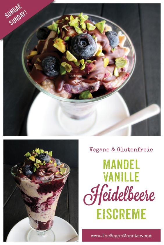 Sundae Sunday Vegan Glutenfreie Mandel Vanille Eiscreme Ohne Milch Ohne Haushaltszucker mit Blaubeersosse Rezept 2