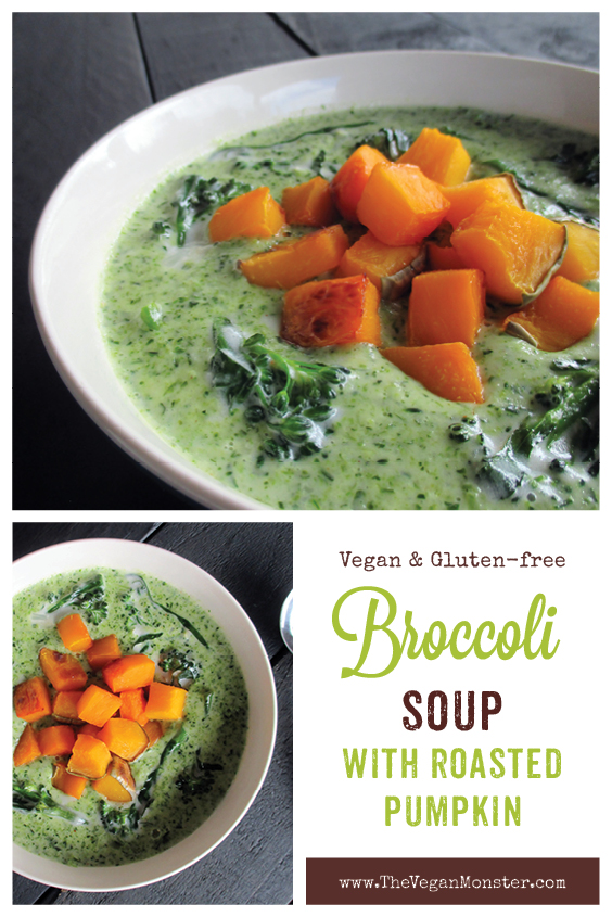 Vegan Gluten free Nut free Creamy Broccoli Soup With Roasted Pumpkin recipeP2