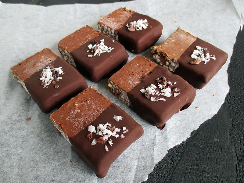 Vegan Gluten free Nut free Creamy Buckwheat Chocolate Ice Cream Bars Recipe 2