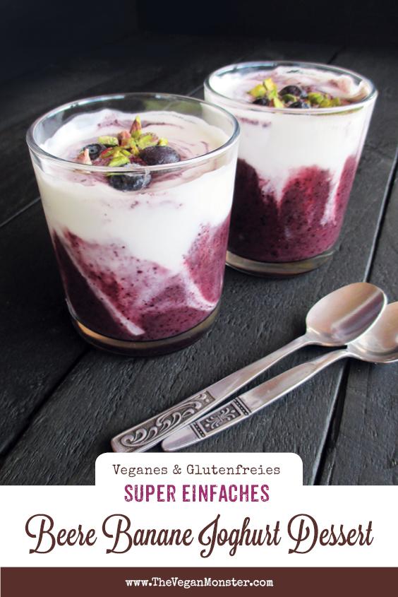 Super Einfaches Vegane Glutenfreies Beere Banane Joghurt Dessert Ohne Milch Ohne Zucker Rezept 2 1
