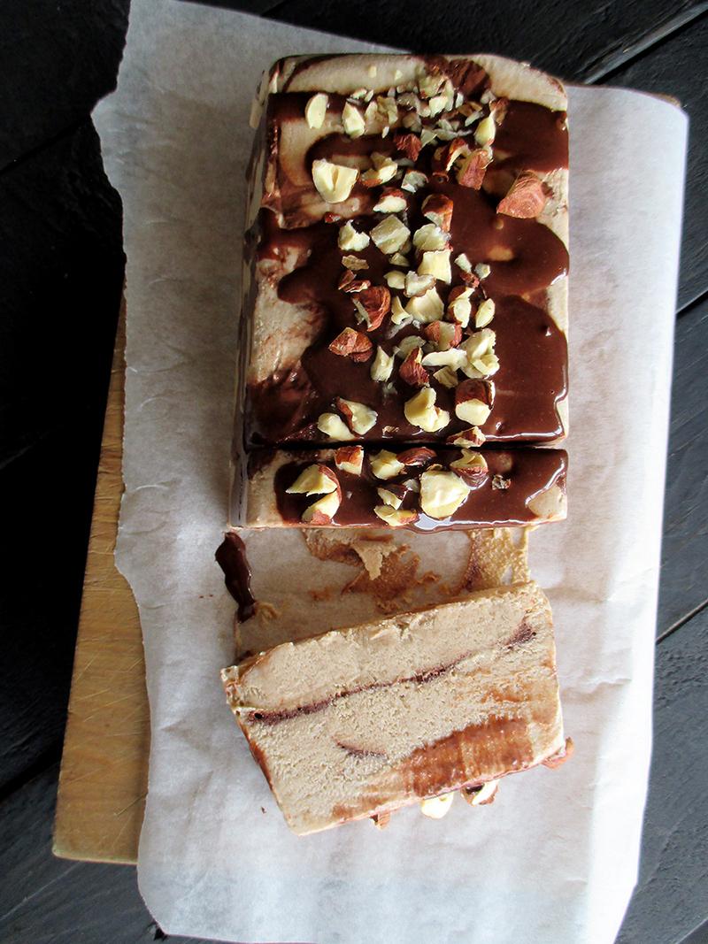 Vegan Gluten free Dairy free Hazelnut Chocolate Semifreddo Ice Cream Without Refined Sugar Recipe 1