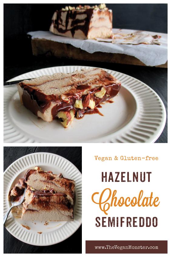 Vegan Gluten free Dairy free Hazelnut Chocolate Semifreddo Ice Cream Without Refined Sugar Recipe P