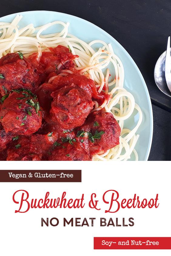 Vegan Gluten free Soy free Nut free No Meat Buckwheat Beetroot Balls Oil free Recipe P3