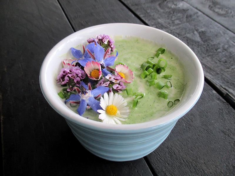 Vegan Gluten free Dairy free Super Easy Herb And Flower Power Yogurt Salad Dressing 1