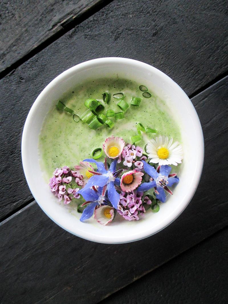Vegan Gluten free Dairy free Super Easy Herb And Flower Power Yogurt Salad Dressing 2