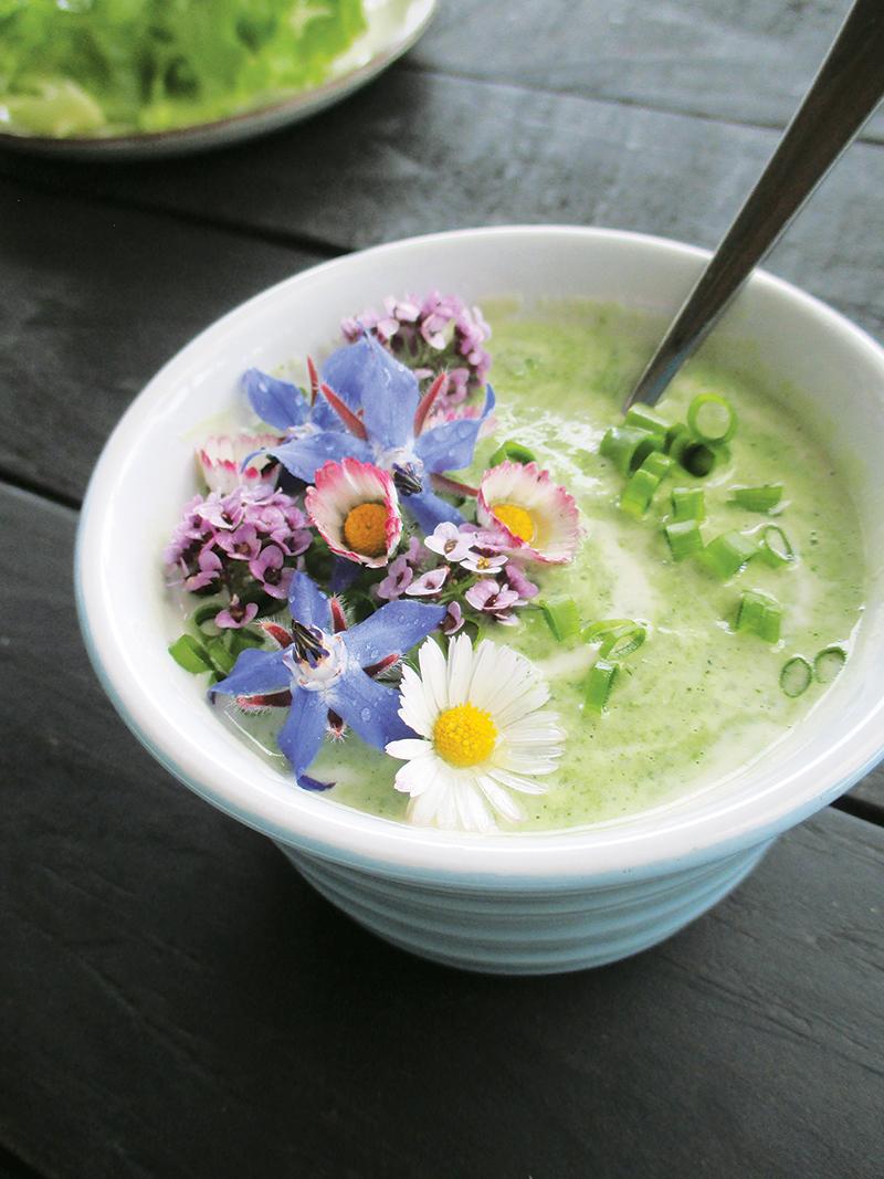 Vegan Gluten free Dairy free Super Easy Herb And Flower Power Yogurt Salad Dressing 3