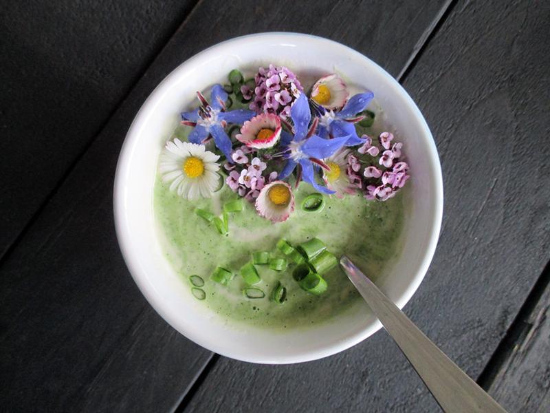 Vegan Gluten free Dairy free Super Easy Herb And Flower Power Yogurt Salad Dressing 4