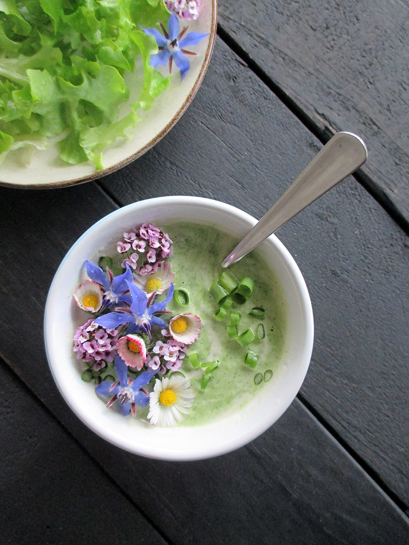 Vegan Gluten free Dairy free Super Easy Herb And Flower Power Yogurt Salad Dressing 5