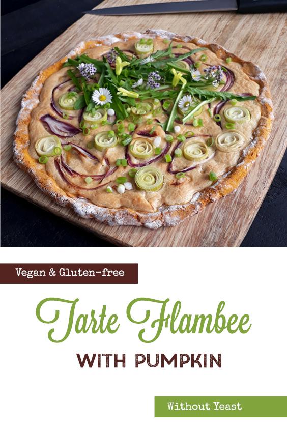 Vegan Gluten free Yeast free Dairy free Tarte Flambee Pizza Recipe P2