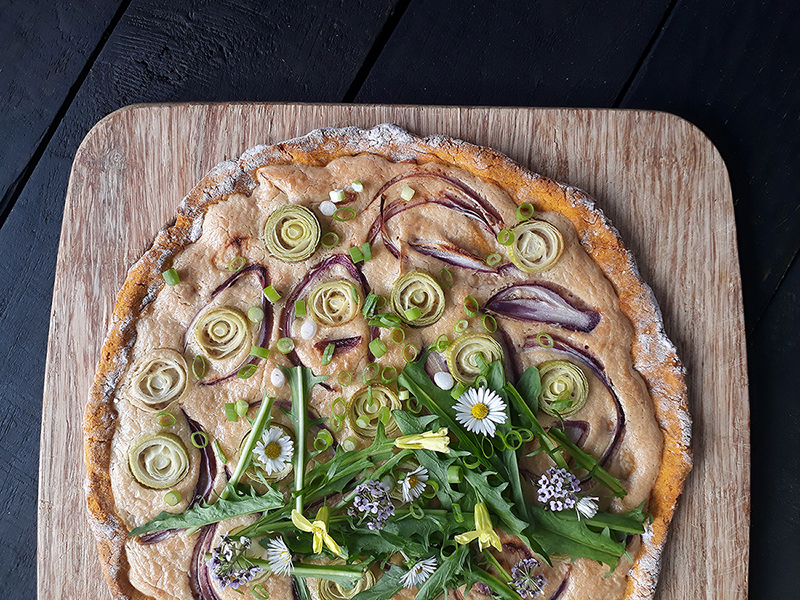 Veganer Glutenfreier Pizza Flammkuchen Ohne Hefe Ohne Milch Rezept 2