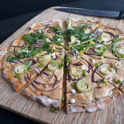 Veganer Glutenfreier Pizza Flammkuchen Ohne Hefe Ohne Milch Rezept 4 1