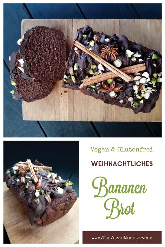 Veganes Glutenfreies Fruchtgesuesstes Weihnachtliches Lebkuchen Bananen Brot Rezept P1