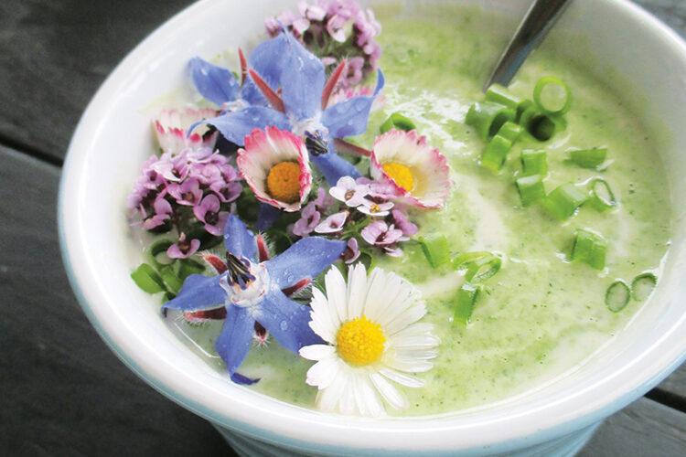 Veganes Glutenfreies Super Einfaches Kraeuter Blueten Joghurt Dressing Ohne Milch Rezept 3 1