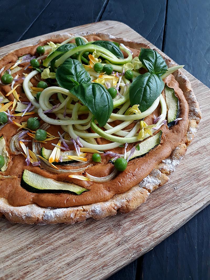 Vegan Gluten free Dairy free Yeast free Kumara Sweet Potato Pizza Without Oil 1