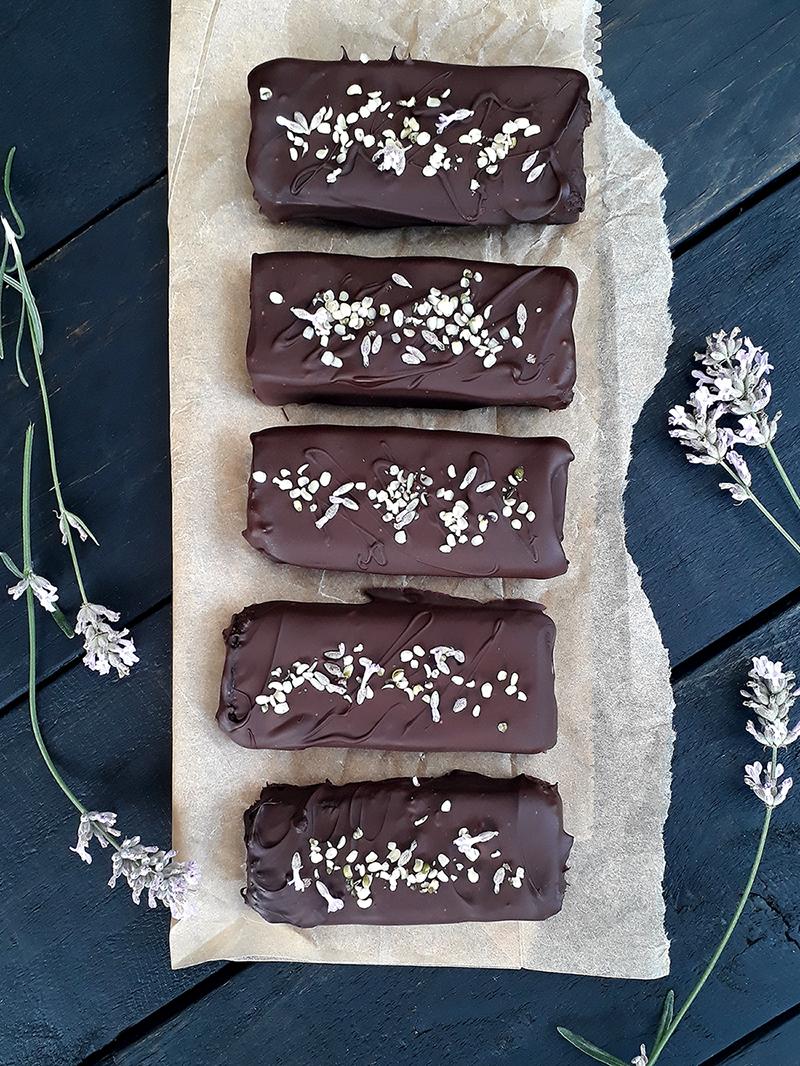 Vegan Gluten free Hemp Walnut Chocolate Lavender Bars Recipe 1