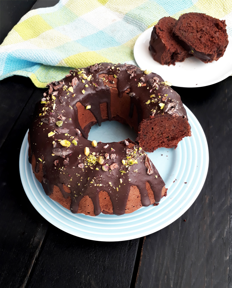 Vegan Gluten free Oil free Refined Sugar Free Zucchini Chocolate Cake Recipe 4