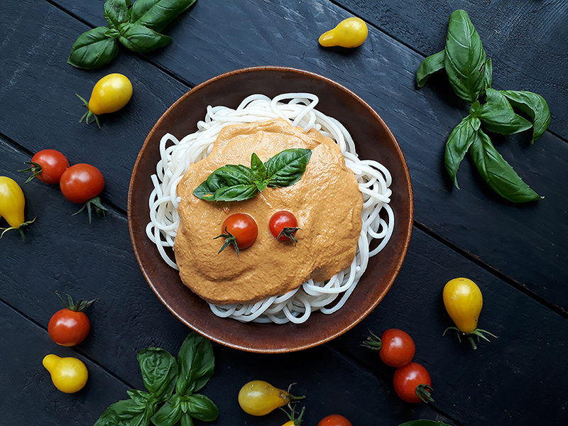 Vegan Gluten free Oil free Vege Pasta Sauce Recipe 3